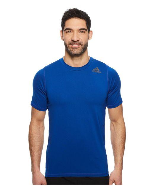 Adidas - Blue Alphaskin Sport Fitted Short Sleeve Tee (collegiate Royal) Men's T Shirt for Men - Lyst