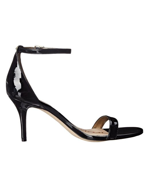 cfa2042a4dfb ... Sam Edelman - Black Patti Strappy Sandal Heel (light Gold Leather) High  Heels ...