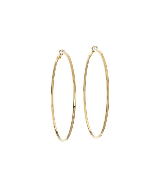 Guess - Metallic Square Edge Hoop (silver) Earring - Lyst