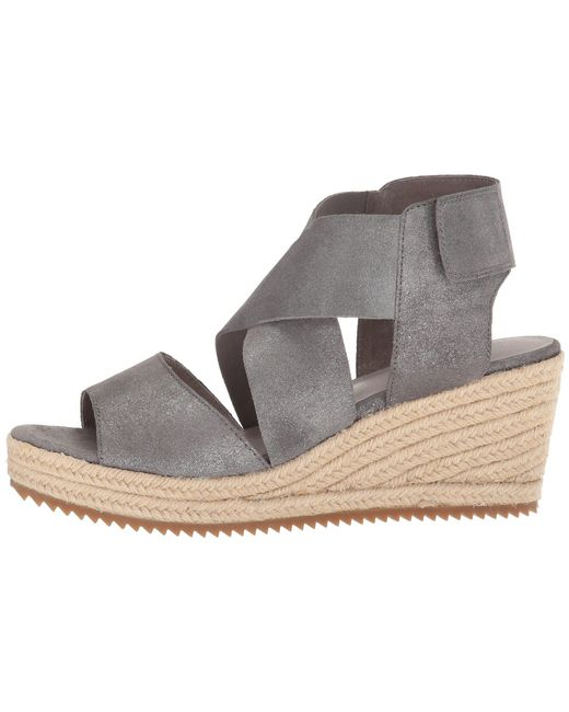996e900243a ... Eileen Fisher - Multicolor Willow 3 (pewter Metallic Suede) Women s  Wedge Shoes ...