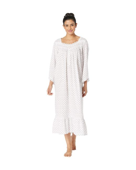 df8b679d41 Eileen West - Ballet Long Sleeve Nightgown (white Lilac Floral Dot) Women s  Pajama ...