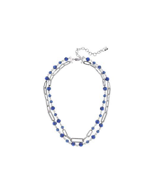 Lauren by Ralph Lauren - 16 2 Row Bead Link Collar Necklace (blue) Necklace - Lyst