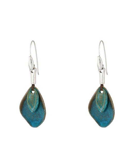 Robert Lee Morris - Blue Patina Petal Drop Earrings - Lyst