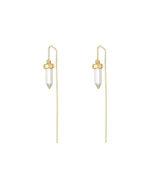 House of Harlow 1960 - Metallic Crystal Threader Earrings - Lyst