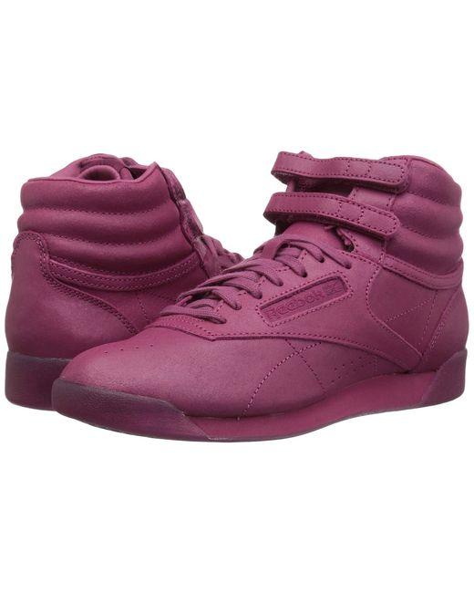 Reebok - Purple Freestyle Hi (white/bunker Blue/primal Red/skull Grey) Women's Shoes - Lyst