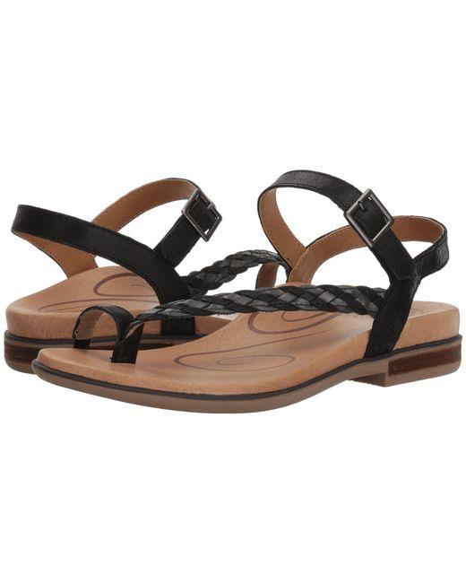 Aetrex - Black Evie (gold) Women's Sandals - Lyst