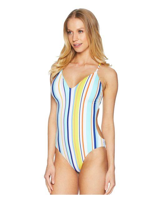 2a30f67dd08c7 ... Nanette Lepore - Blue Amalfi Coast Goddess One-piece - Lyst ...