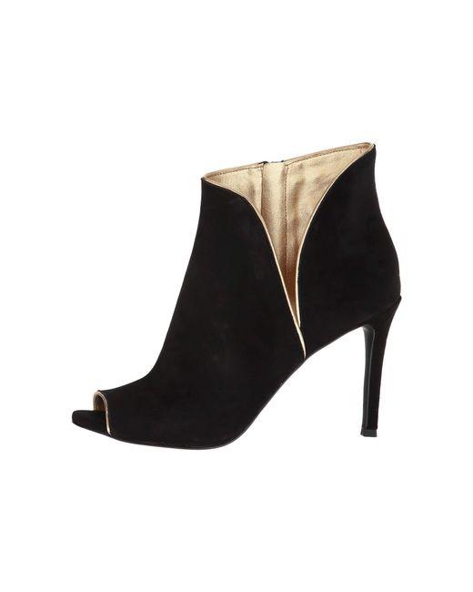 f6a9b0e45d88 Lyst - MICHAEL Michael Kors Harper Heeled Shoe Boots in Black - Save 63%