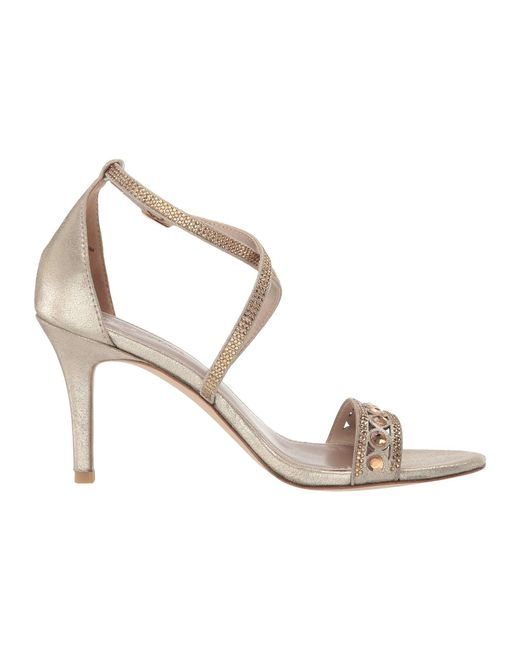 65eff7aec7e3 Lyst - Pelle Moda Rory (silver Metallic Suede) Women s Dress Sandals ...