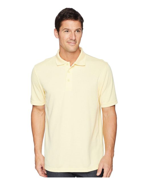 Bugatchi - Yellow Short Sleeve Polynosic Polo (lavender) Men's Clothing for Men - Lyst