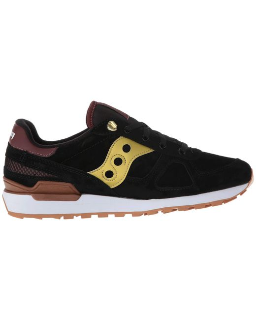 3631f56d9345 ... Saucony - Shadow Original Suede Ranger (black gold) Men s Classic Shoes  for Men ...