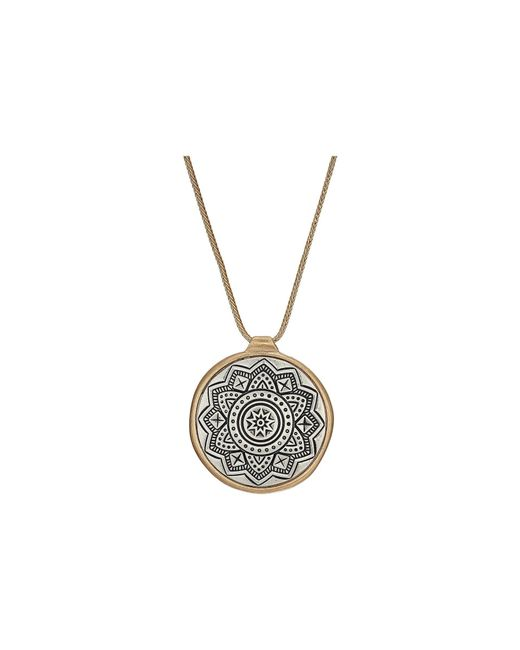 The Sak - Metallic Etched Inlay Pendant Necklace 28 (two-tone Gold) Necklace - Lyst