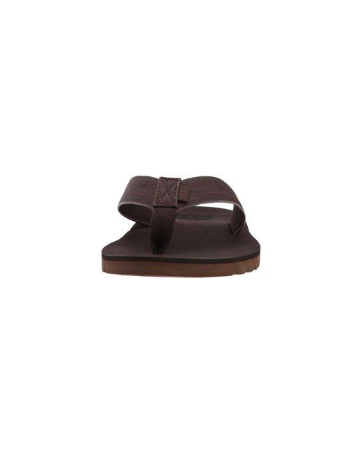 cbf9fd38e ... Reef - Brown Voyage (black) Men s Sandals for Men - Lyst