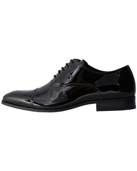... Florsheim | Black Tux Cap Toe Oxford for Men | Lyst ...