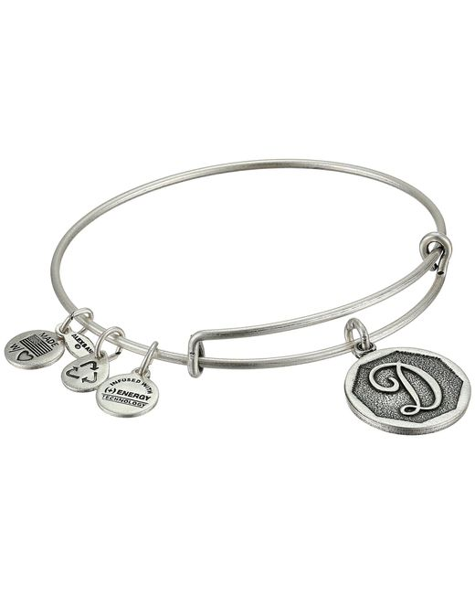 ALEX AND ANI - Metallic Initial D Charm Bangle - Lyst