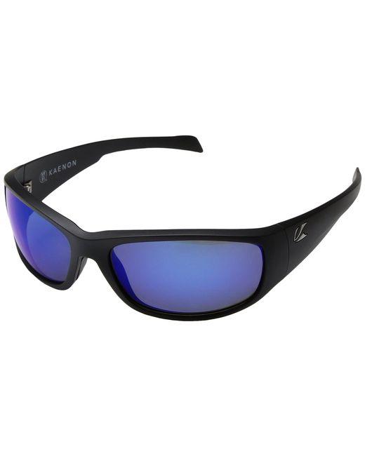 Kaenon - Blue Capitola (black Matte Grip Ultra Grey 12-polarized) Sport Sunglasses for Men - Lyst