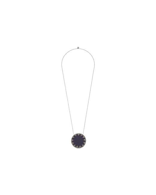 House of Harlow 1960 - Metallic Sunburst Pyramid Pendant Necklace (silver/grey) Necklace - Lyst
