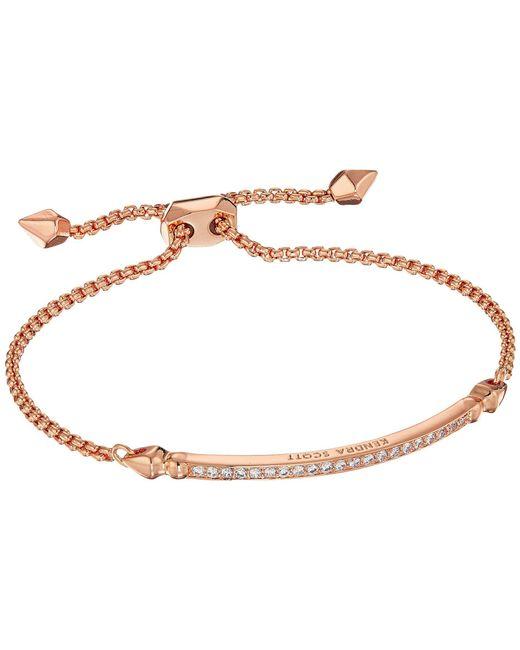 Kendra Scott - Multicolor Ott Bracelet (rose Gold/white Cz) Bracelet - Lyst