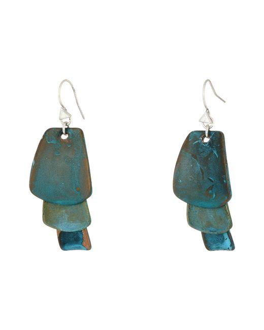 Robert Lee Morris - Blue Patina Drop Earrings - Lyst