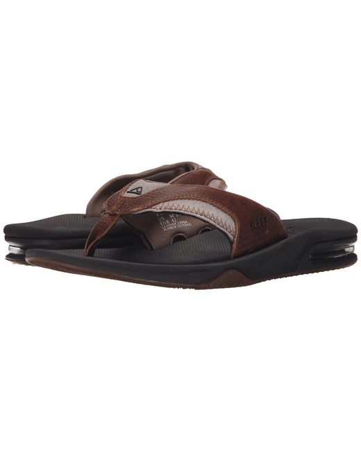 9c6e69addc76 Lyst - Reef Fanning Leather in Brown for Men - Save 22%