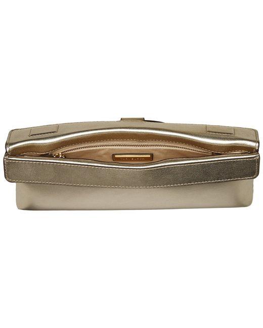 c32e118670ff ... Tory Burch - Miller Metallic Clutch (gold) Clutch Handbags - Lyst ...