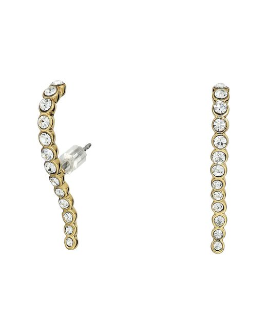 Vince Camuto | Metallic Pave Lobe Post Earrings | Lyst