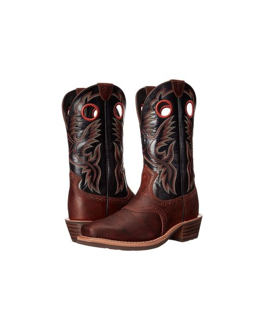 Ariat - Heritage Roughstock (brown Oiled Rowdy) Cowboy Boots for Men - Lyst