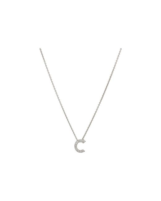 Roberto Coin - Diamond Initial Necklace (white Gold-c) Necklace - Lyst