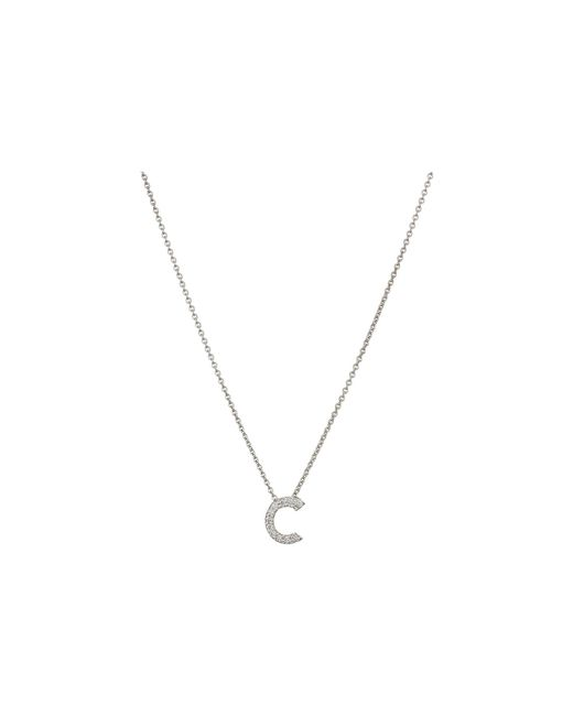 Roberto Coin - White Diamond Initial Necklace - Lyst