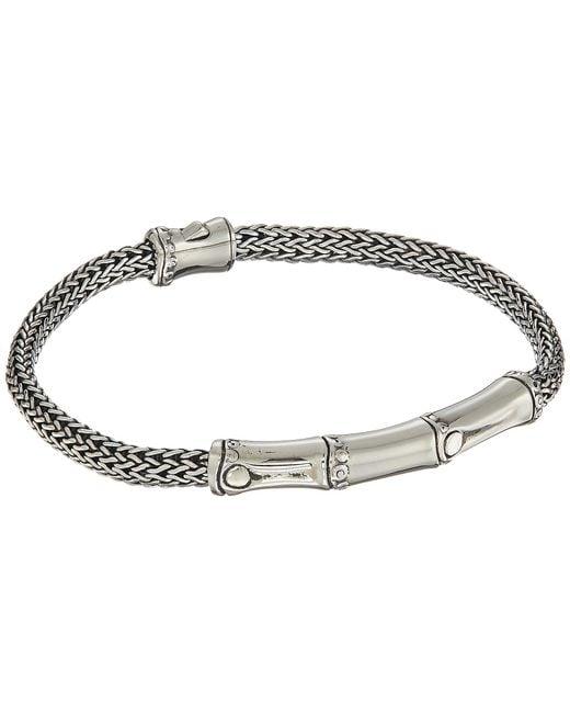 John Hardy - Metallic Bamboo 4mm Bracelet (silver) Bracelet - Lyst