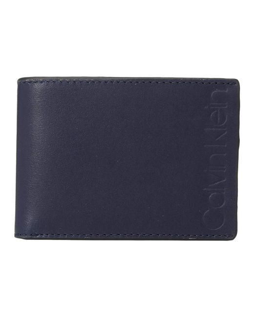 Calvin Klein - Blue Slimfold (dark Navy) Bill-fold Wallet for Men - Lyst