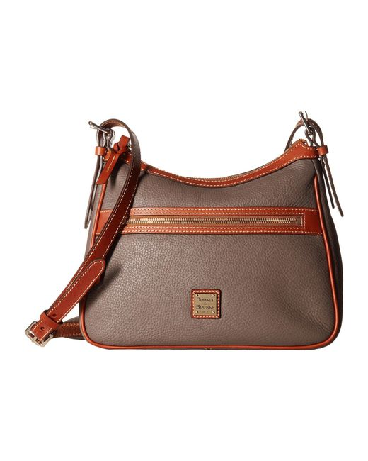 Dooney & Bourke - Brown Pebble Piper (caramel/tan Trim) Handbags - Lyst