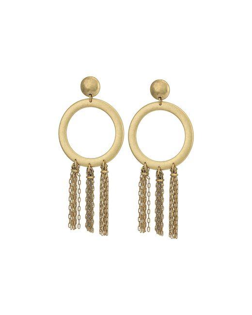 Lucky Brand - Metallic O Tassel Earrings - Lyst