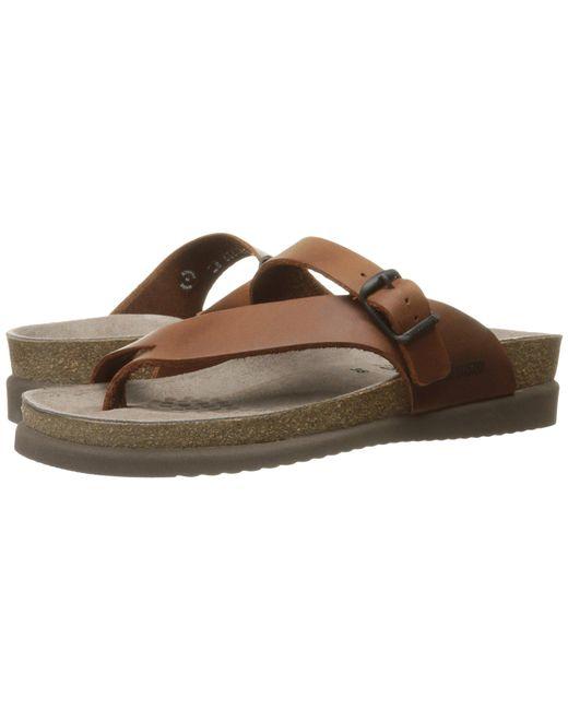 d32370f4971 Lyst - Mephisto Helen (navy Nubuck) Women s Sandals in Brown