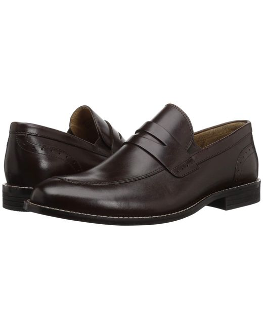 389ec064949 Nunn Bush - Brown Strata Moc Toe Dress Casual Penny Loafer Dress (black)  Men s ...