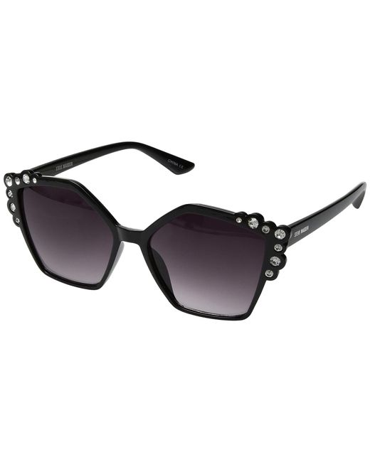 42475aa71a Steve Madden - Amelia (black Frame smoke Gradient Lens) Fashion Sunglasses  - Lyst ...