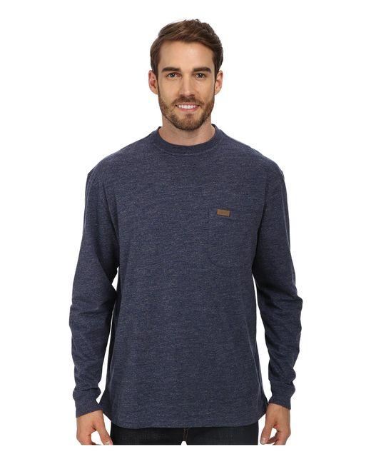 Pendleton - Blue L/s Deschutes Tee (grey Heather) Men's Long Sleeve Pullover for Men - Lyst