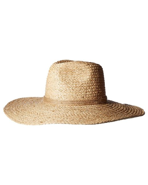 3a2023c8c31 Michael Stars - Lizz Braided Wide Brim Fedora (natural) Fedora Hats - Lyst  ...
