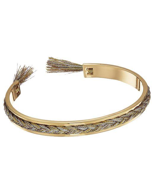 Rebecca Minkoff - Metallic Feather Oval Hinge Bracelet - Lyst