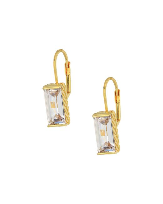 Cole Haan - Metallic Cubic Zirconia Lever Back Earrings (gold/clear Cubic Zirconia) Earring - Lyst