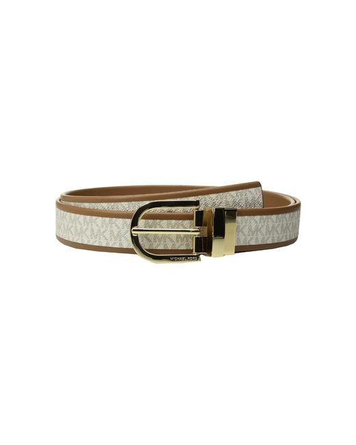 MICHAEL Michael Kors | Multicolor 32mm Smooth To Mk Logo Reversible Belt | Lyst