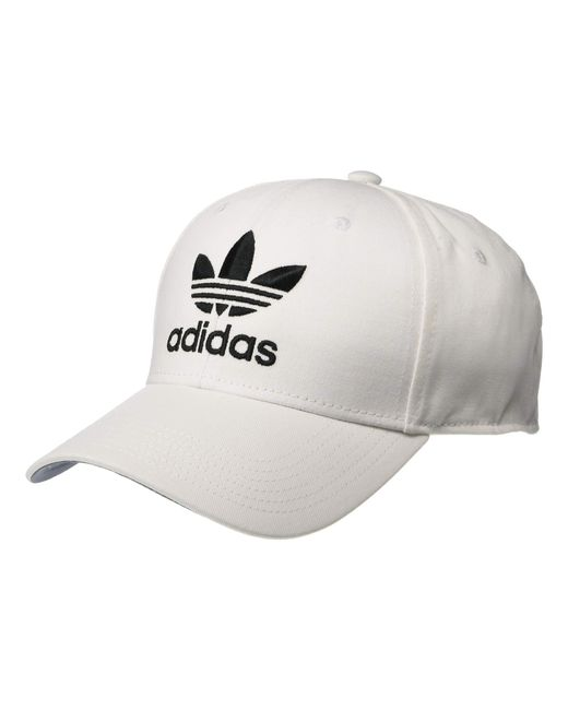 dec4fcf9a4b Lyst - adidas Originals Relaxed Strapback Cap in White for Men - Save 4%