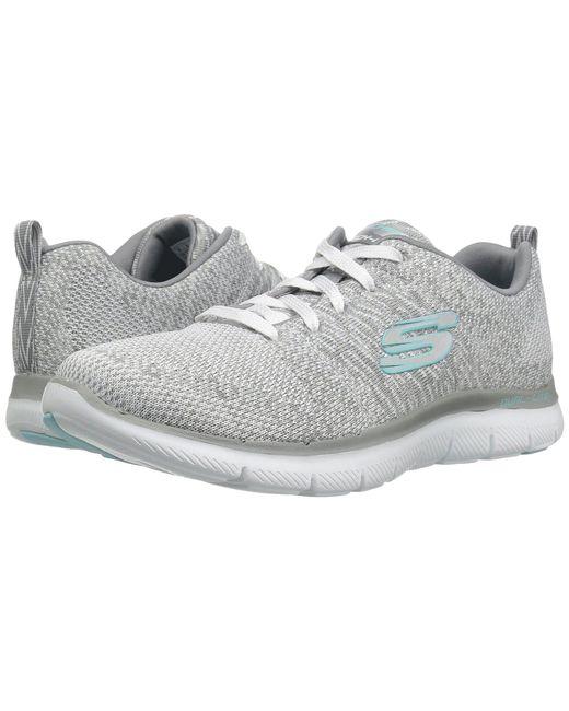 6a82e012711d Skechers - Multicolor Flex Appeal 2.0 - High Energy (black aqua) Women s  Shoes ...