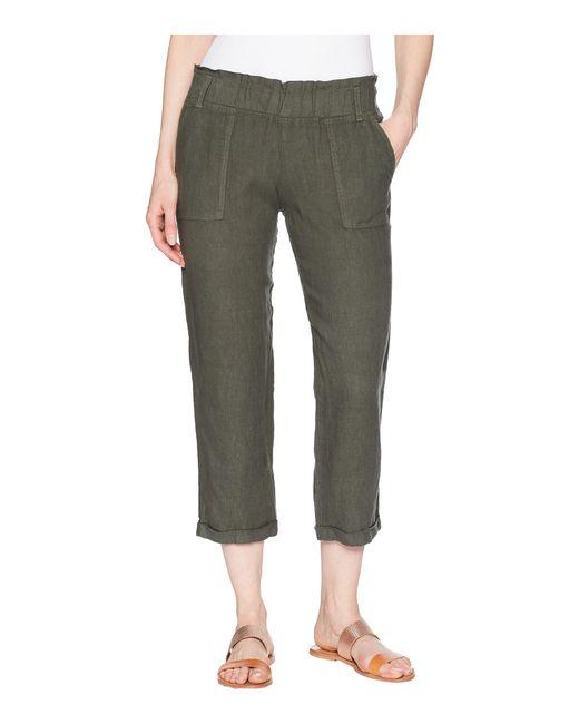 Allen Allen - Green Cropped Cuff Bottom Pants - Lyst