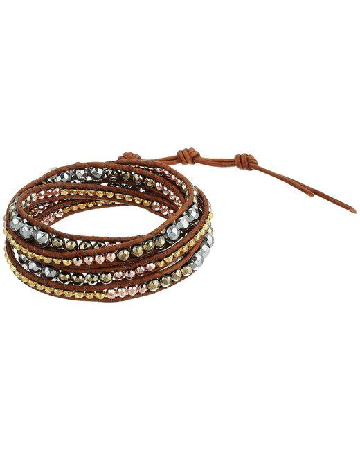 Chan Luu - Metallic 32 Wrap Bracelet (silver Hematine Mix) Bracelet - Lyst