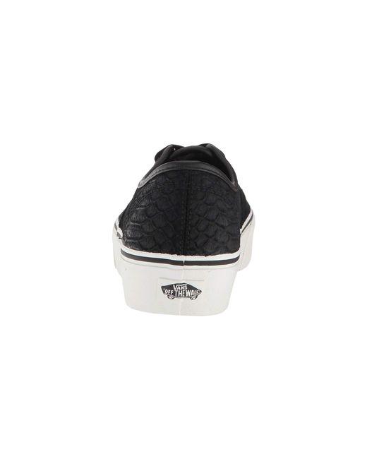 ... Vans - Authentic Platform 2.0 ((leather) Snake black) Skate Shoes for  ... e68662938
