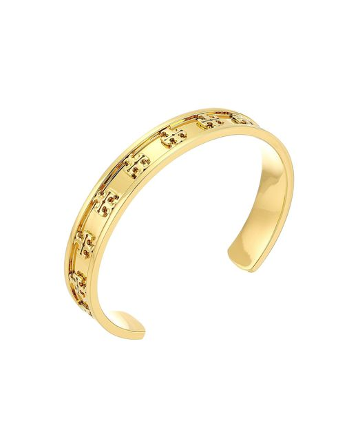 Tory Burch - Metallic Raised Logo Cuff Bracelet (tory Gold) Bracelet - Lyst