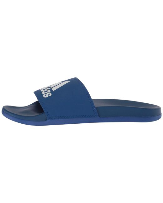 online store 074c4 f5fe2 ... Adidas - Blue Adilette Cf+ Logo (black black white) Men s Slide Shoes  ...