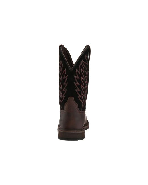1e03525b587 Lyst - Ariat Groundbreaker Pull-on St (brown/black) Cowboy Boots in ...