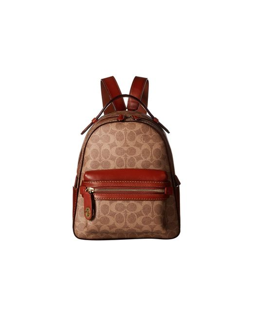 ... france coach brown campus backpack 23 in coated canvas signature b4 tan  rust e8f42 de0b5 d451b8aec4